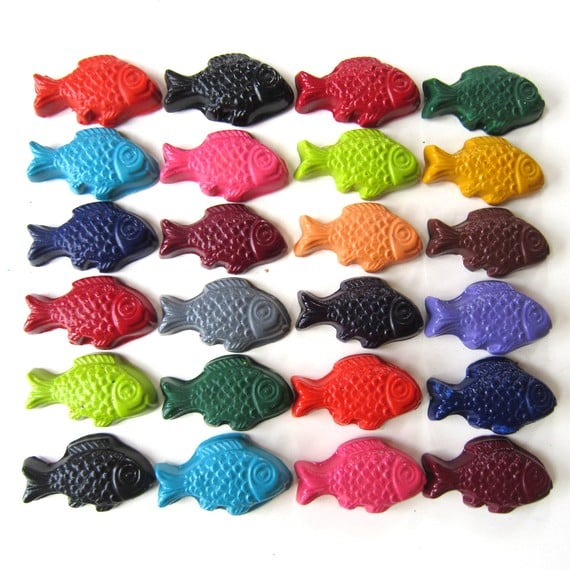 Ivy Lane Designs Fish Crayons ($9 for a set of six)
