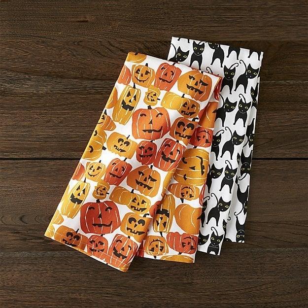 Halloween Cats & Pumpkins Dish Towels ($13 set of 2)