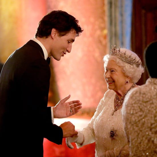 Queen Elizabeth and Justin Trudeau at Commonwealth Reception