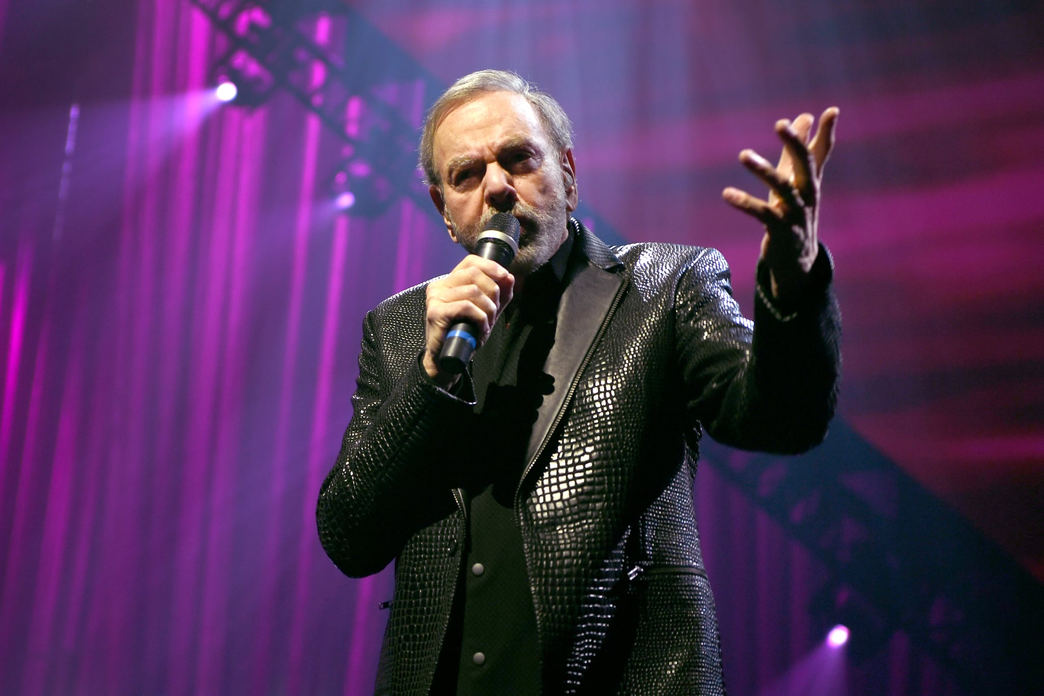 LAS VEGAS, NEVADA - MARCH 07: Neil Diamond performs onstage at the 24th annual Keep Memory Alive 'Power of Love Gala' benefit for the Cleveland Clinic Lou Ruvo Centre for Brain Health at MGM Grand Garden Arena on March 07, 2020 in Las Vegas, Nevada. (Photo by Denise Truscello/Getty Images for Keep Memory Alive)