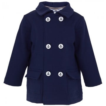 Petit Bateau Navy Double-Breasted Blazer