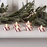 Flameless Candy Cane Christmas Tea Lights