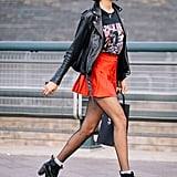 Give Your Outfit a Rocker Touch With a Graphic Tee to Avoid Complete Colour-Block