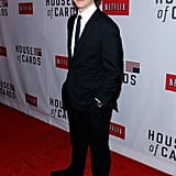 Sebastian Arcelus smiled at the House of Cards premiere.
