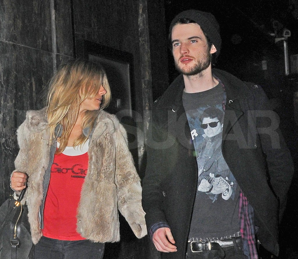 Sienna Miller and Tom Sturridge Hang Out For Two Nights in London — See the Photos!
