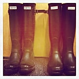 Twins! Publisher Marisa and Ali both sported their Hunter wellies to work on Tuesday.