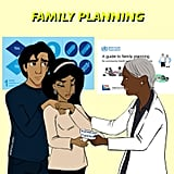 """So today's illustration has to do with family planning and how we're afraid it could be affected by this new administration, based on people like Mike Pence, Dan Coats, and honestly the entirety of the Texas GOP. Also considering that it's Jasmine and Aladdin looking for some family planning? Here's hoping they don't have to deal with Trumps Muslim registry first,"" Maritza captioned this image."