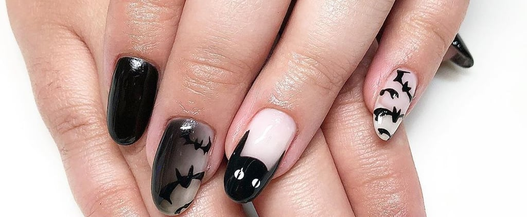 25 Black-Cat Halloween Nail-Art Designs