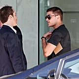 Zac Efron Breaks From Dancing to Handle Some Business