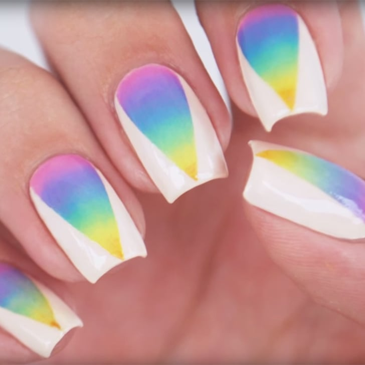 Rainbow ombre nail art tutorial popsugar beauty prinsesfo Image collections