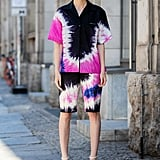Go bold in head-to-toe prints. We're particularly loving the elevated tie-dye look this year!