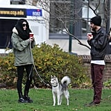 Miley Cyrus Walking Her Dog in Philadelphia | Pictures