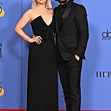 They posed together in the press room at the 2018 Golden Globes.