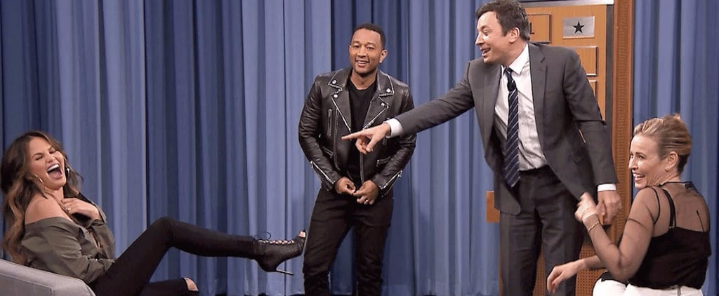 Chrissy Teigen Saves John Legend From a Wardrobe Malfunction During a Game of Charades
