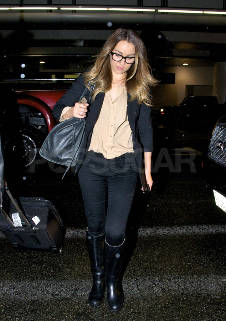 Lauren Conrad Makes a Spectacle Out of Her LAX Landing