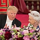 Queen Elizabeth's Burmese Ruby Tiara With Donald Trump