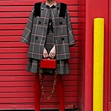 Halogen® x Atlantic-Pacific Bow Detail Plaid Cape Jacket