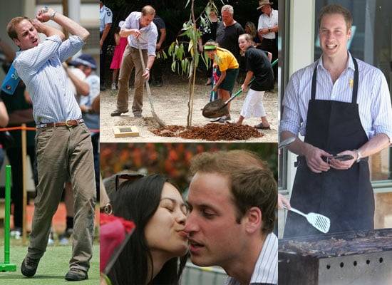 Photos of Prince William in Australia