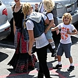 Gwen Steafani laughed with her sons in LA.