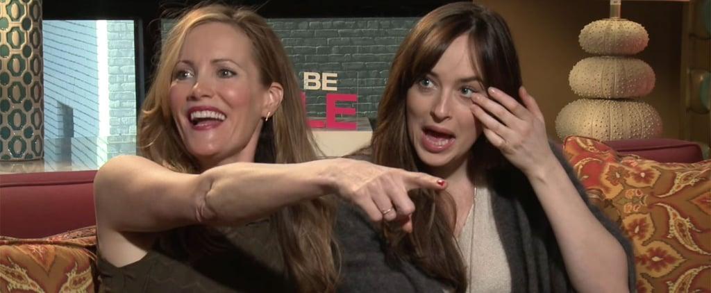 Leslie Mann and Dakota Johnson Hit on Reporter Video
