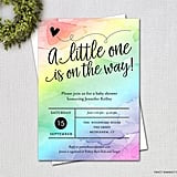 Water Color Rainbow Baby Shower Invitation