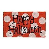 Happy Halloween Orange Doormat