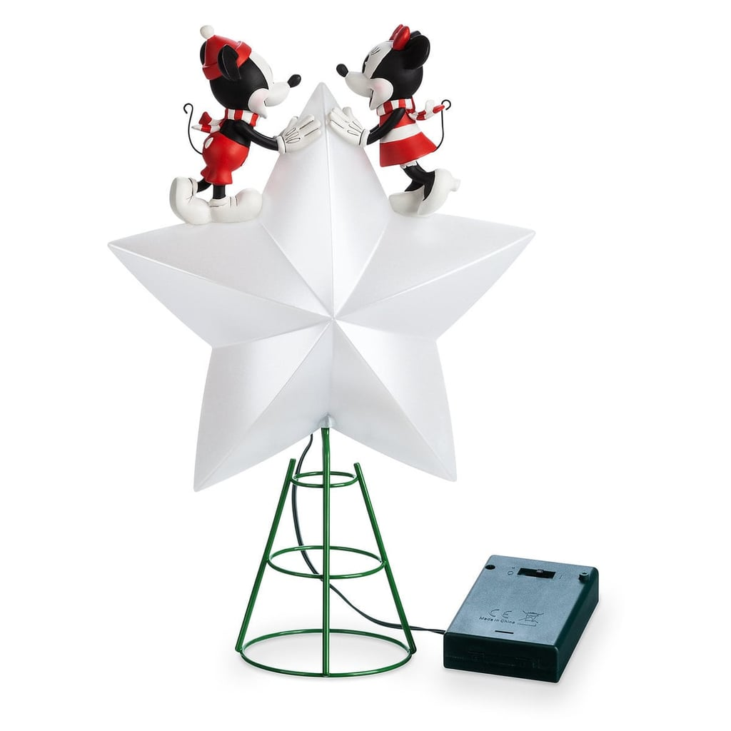 Disney Christmas Tree Topper Uk.Mickey And Minnie Mouse Light Up Holiday Tree Topper