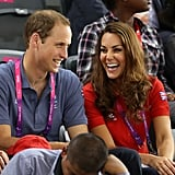 Kate Middleton and Prince William looked happy together.