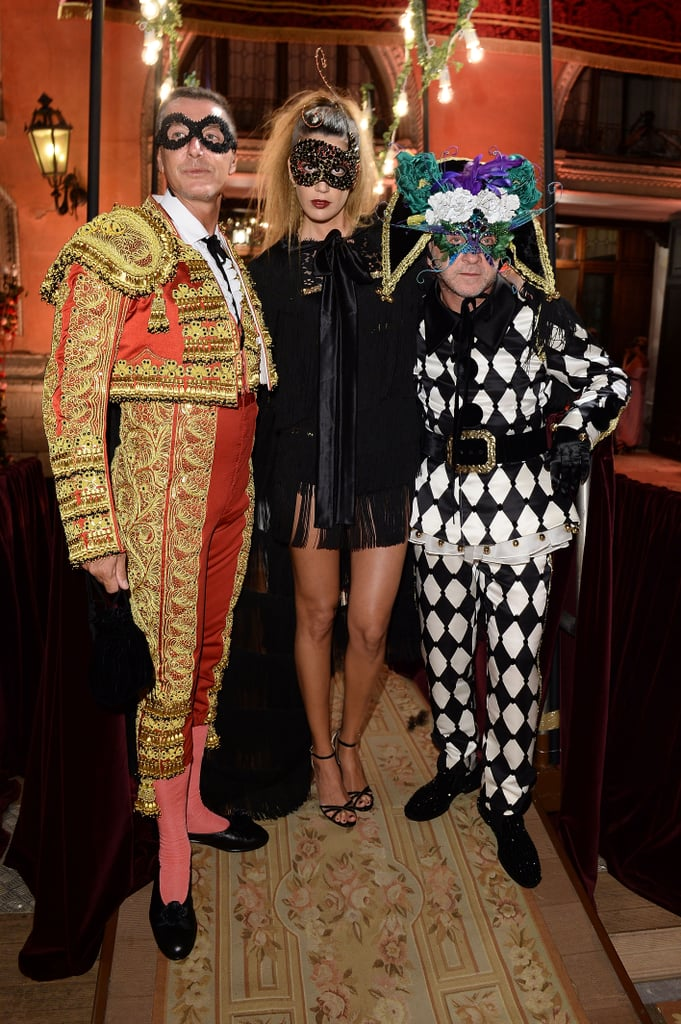 Bianca Brandolini D'Adda vamped it up with her hosts in a leggy, black cocktail number.
