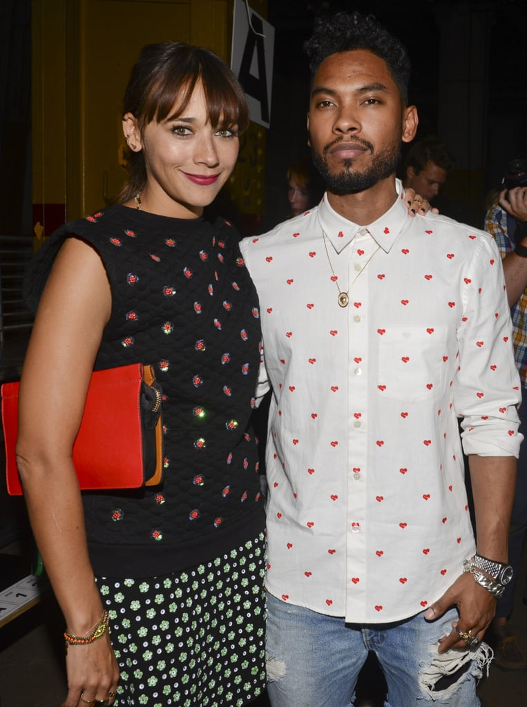 Rashida Jones posed with Miguel in the front row of Sunday's Opening Ceremony runway show.