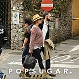 Sienna Miller and Tom Sturridge enjoyed each others company for a stroll on vacation in Italy.
