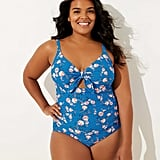 LOFT Plus Beach Garden Keyhole One Piece Swimsuit