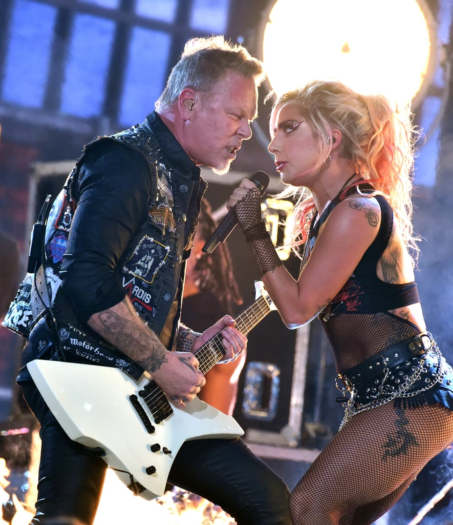 Lady Gaga performed with Metallica in 2017.