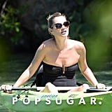 Kate Moss went kayaking.