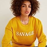 Mango Furry Message Sweatshirt