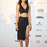 Chanel Iman at a Sports Illustrated event.