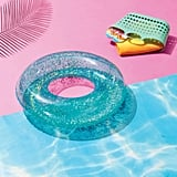 Glitter Tube Pool Float Blue