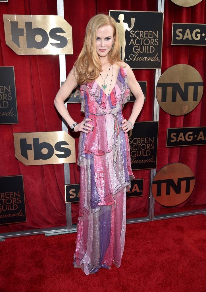 Nicole Kidman shining bright in a Gucci dress.