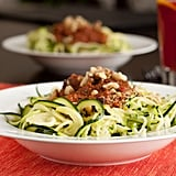 Even a bowl of pasta is doable without a pot of boiling water! Sub a veggie for standard pasta as with this recipe for raw tomato, basil, and zucchini pasta.