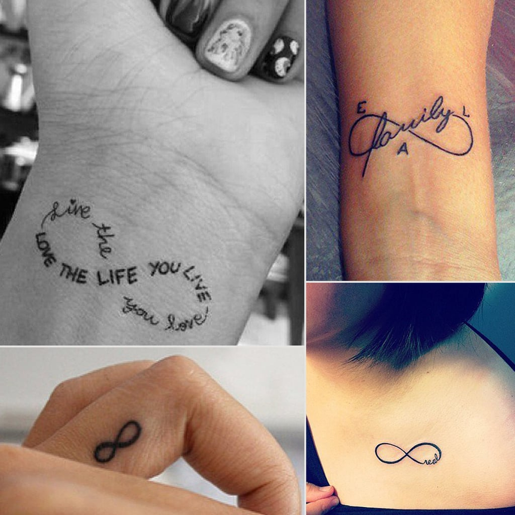Infinity Sign Tattoo Ideas Popsugar Beauty