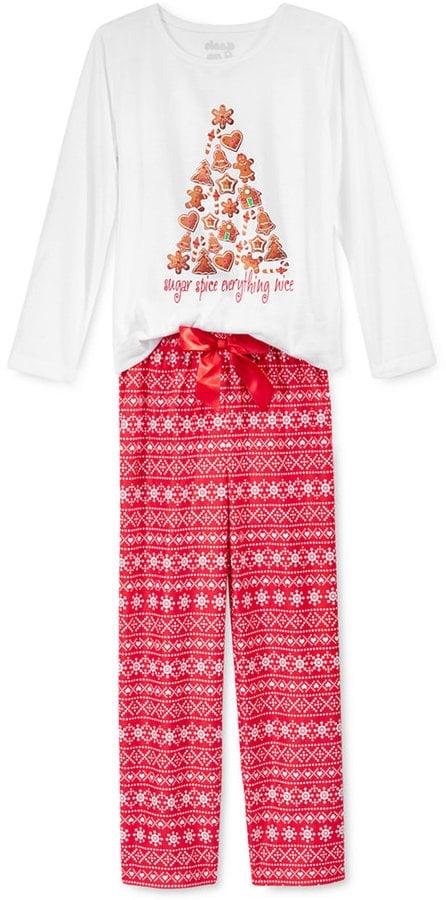 Sleep On It Girls' Sugar & Spice Pajamas