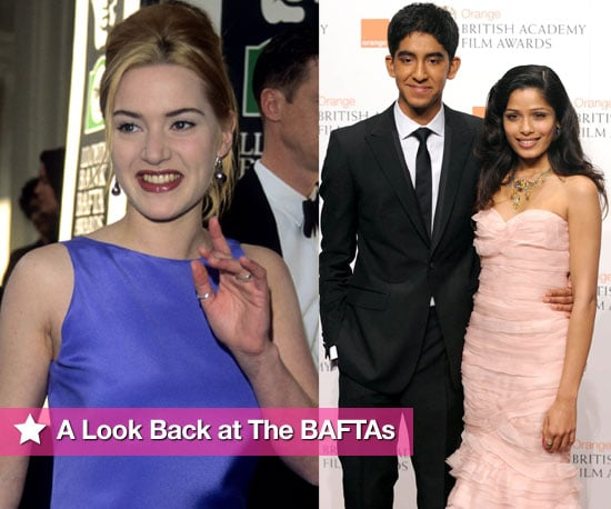 Photos of Celebrities on the Red Carpet at Past BAFTA Award Ceremonies Including Brad Pitt, Angelina Jolie, Kate Winslet