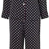 Olivia von Halle Navy Printed Silk Lila Pajamas ($510)