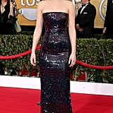 Jennifer Lawrence in a Sequinned Dior Haute Couture Gown