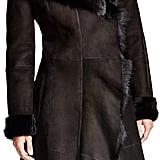 Maximilian Furs Maximilian Hooded Shearling Coat