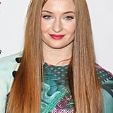 Sophie Turner's Long Strawberry Blond Hair, 2014