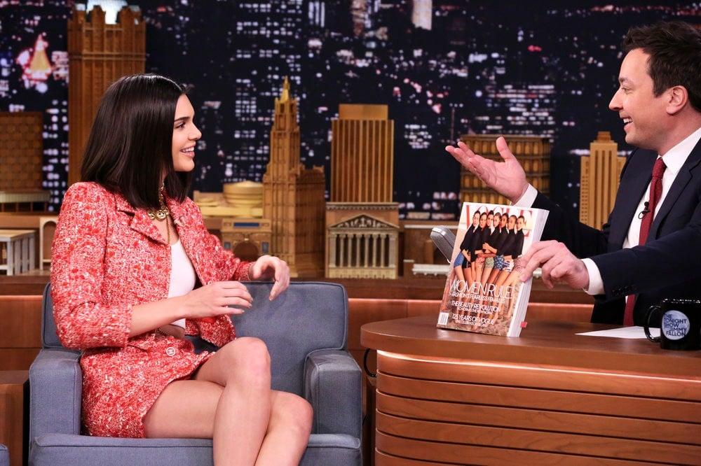 Kendall Jenner Wearing Vintage Chanel on Jimmy Fallon 2017