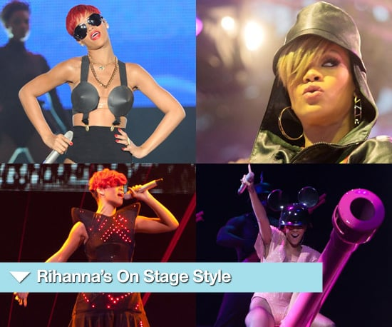 Photos of Rihanna on Stage in Fun Revealing Outfits 2010-08-03 01:00:19