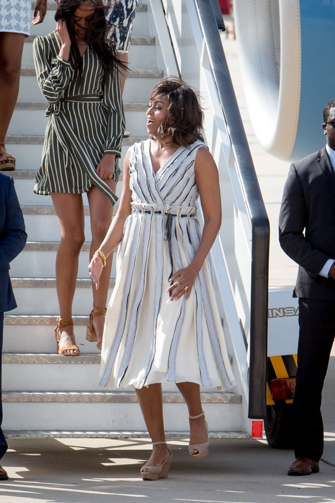 Michelle Obama S Dress Arriving In Spain June 2016