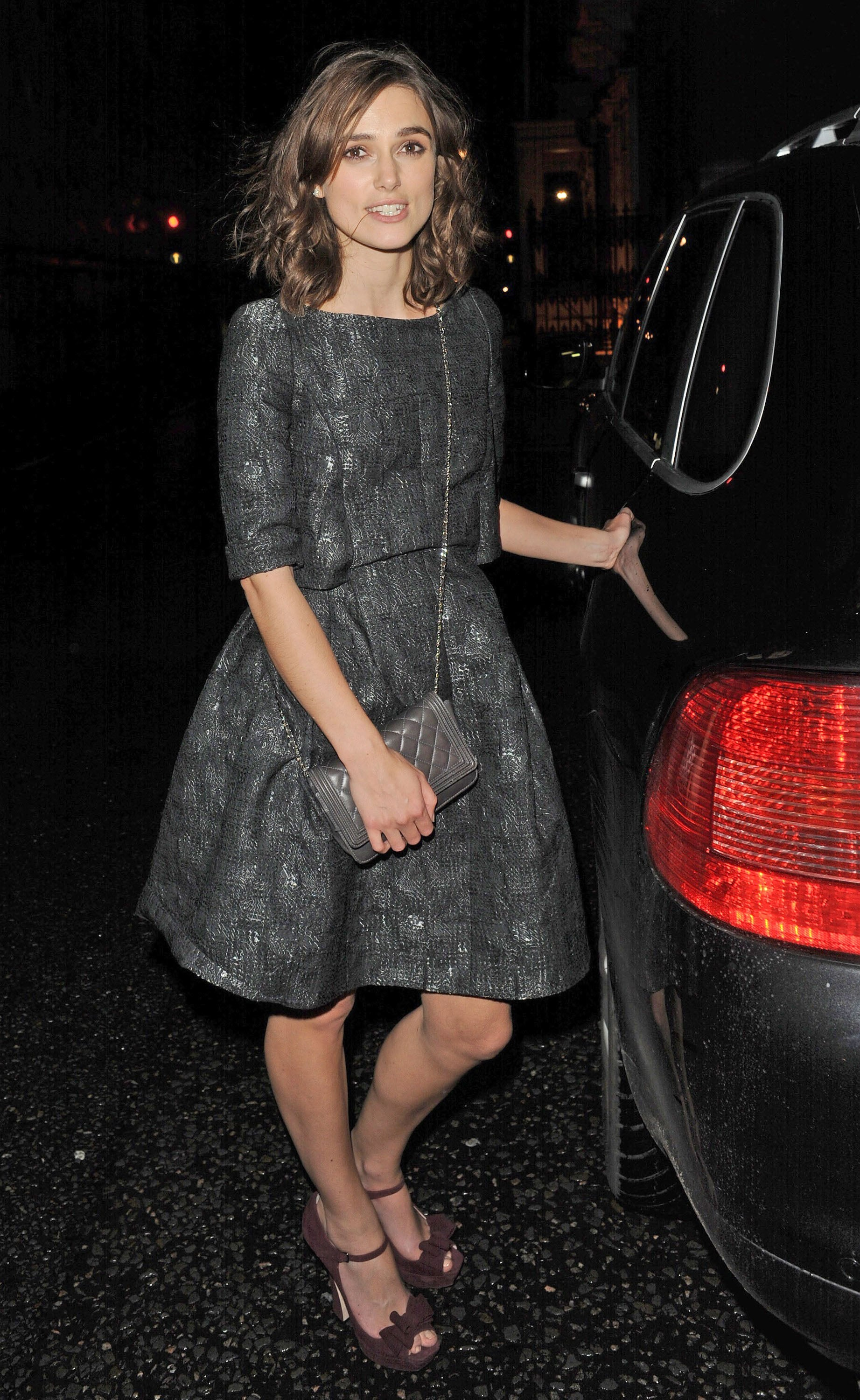 Keira Knightley got in the backseat of a waiting car.